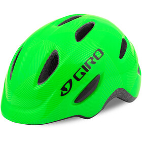 Giro Scamp Casco Niños, green/lime lines